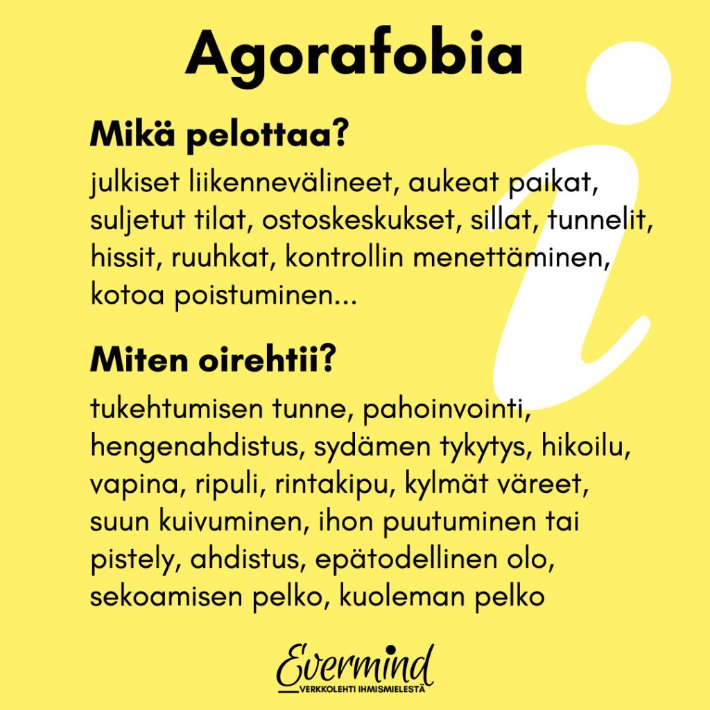 agorafobia oireet