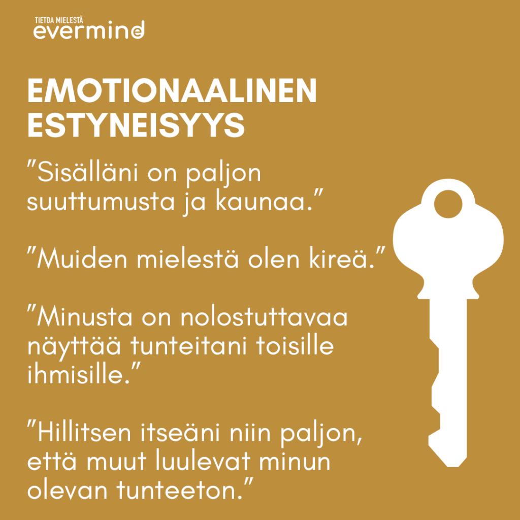 Emotionaalinen estyneisyys